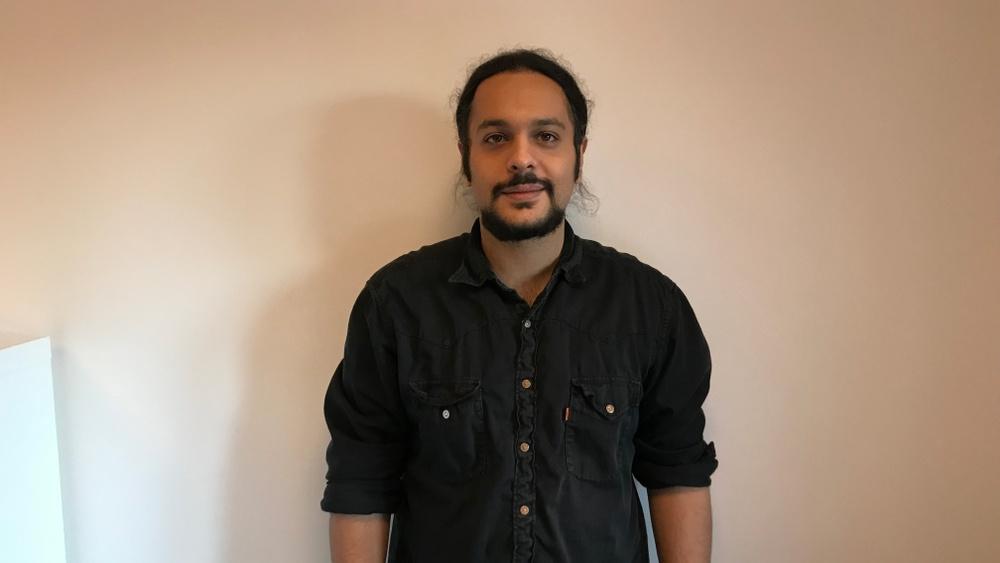 Idébäraren Amin Mazraeh fick under morgonen motta pris i Venture Cups affärsidétävling IDEA.