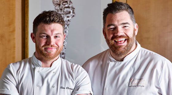 Tom Brown with Nathan Outlaw