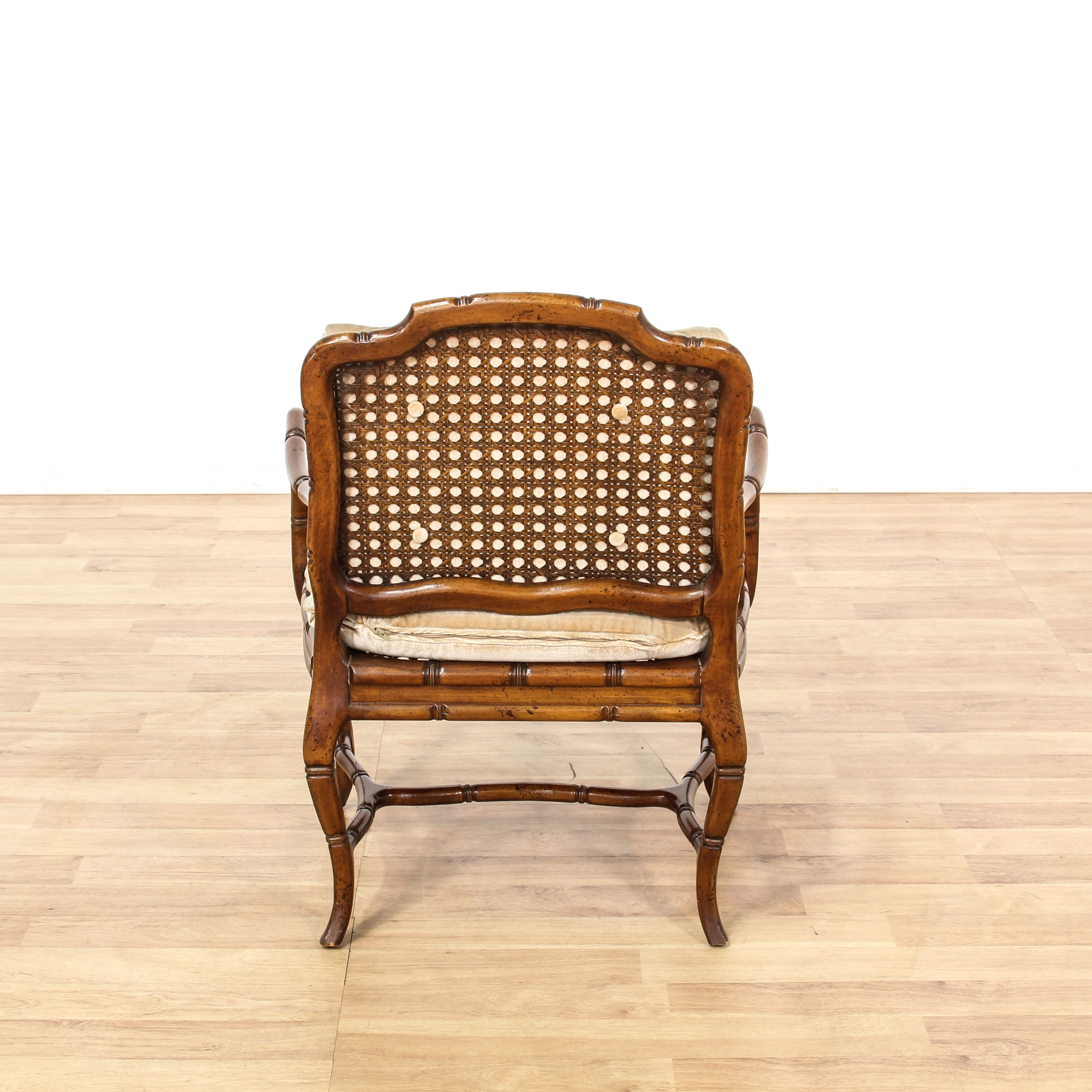 Antique French Bamboo Amp Wicker Chair Loveseat Vintage