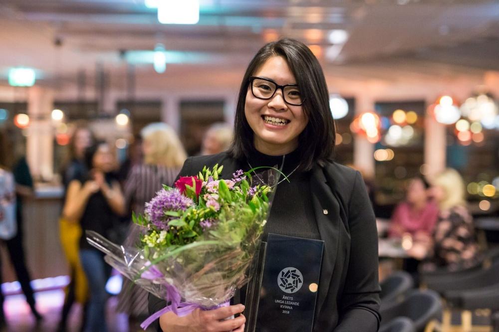 Helén Truong, Årets unga ledande kvinna 2018. Foto: Anna Jansson