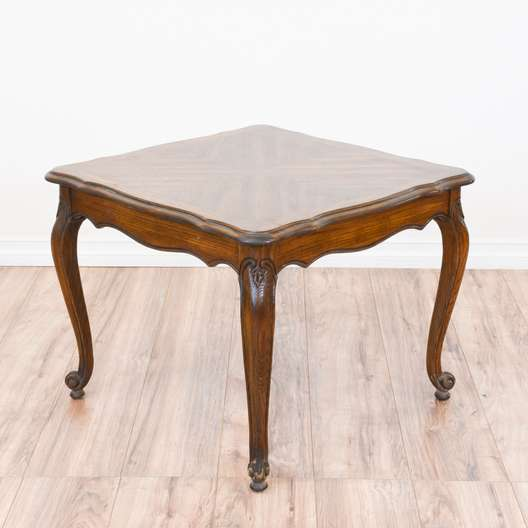 Carved oak french provincial end table loveseat vintage for Furniture in federal way