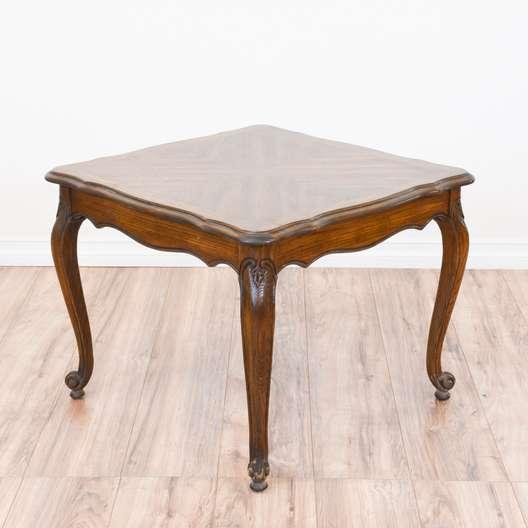Carved oak french provincial end table loveseat vintage for Furniture federal way