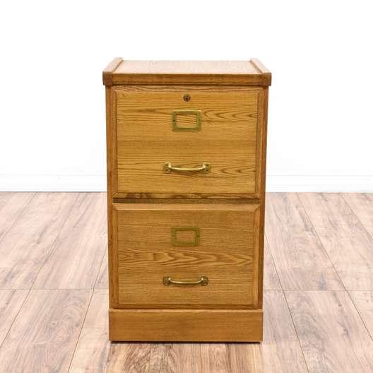 Light Oak 2 Drawer Filing Cabinet