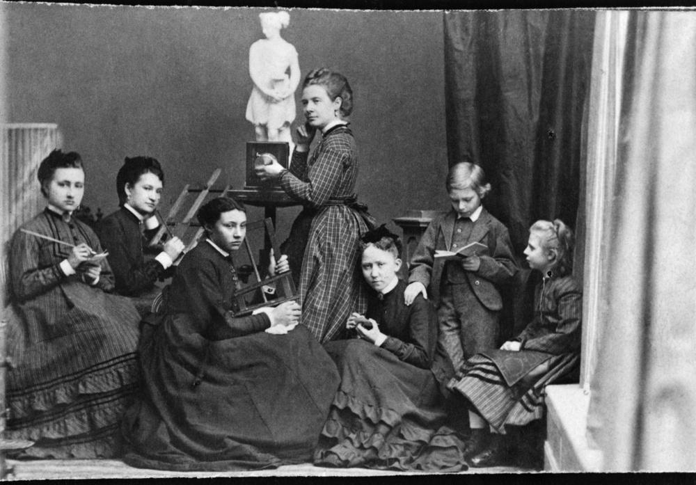 Rosalie Sjöman, I ateljén, 1860-tal © Nordiska museet