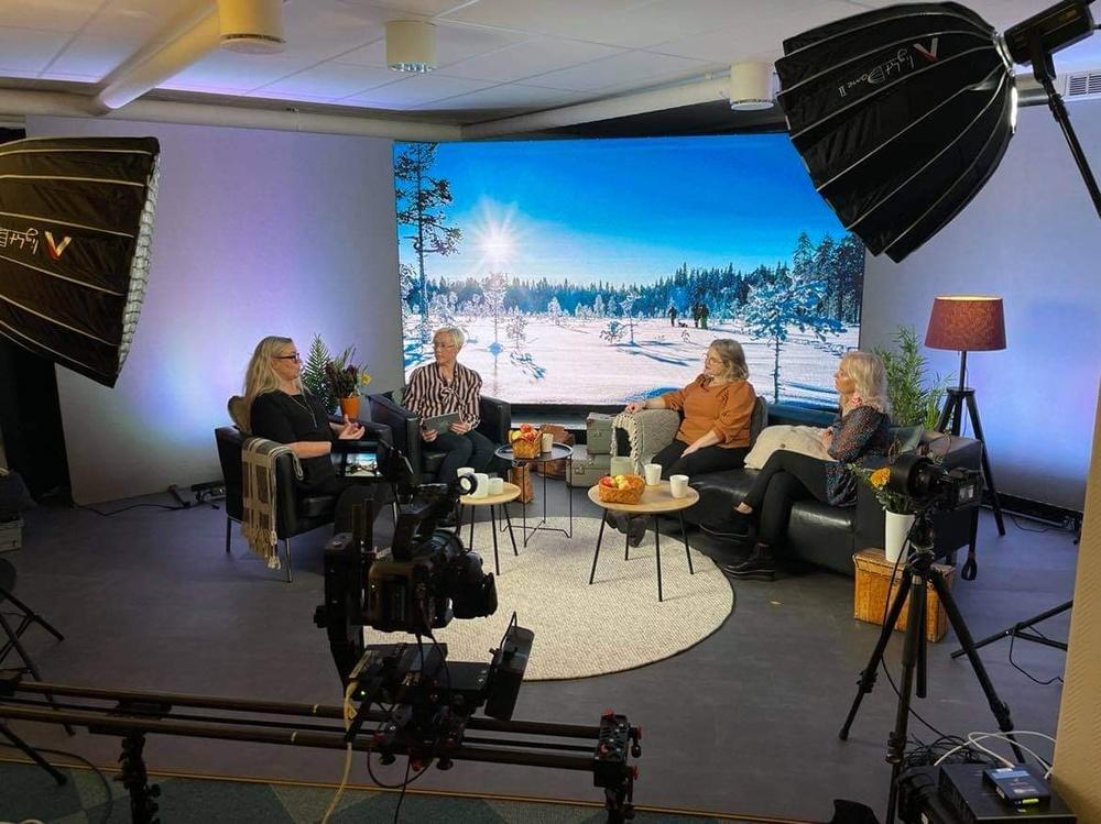 Förinspelningen av Opening Ceremony för Swedish Lapland Summit. Foto: Sara Holm