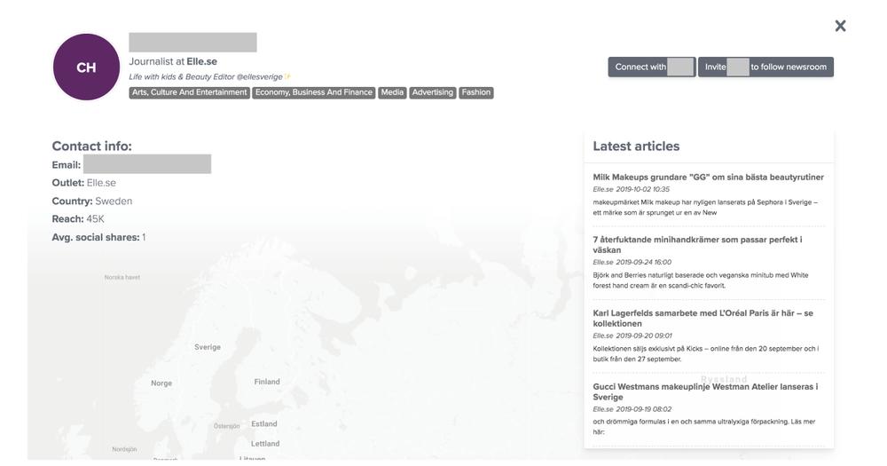 Detaljerad information om en journalist hittar du exempelvis i Notifieds verktyg
