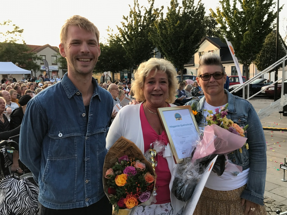 Häggenäs Sjukhem vinner Innovationspriset i Hörby kommun. Priset delades ut av Krinova och Hörby kommun.
