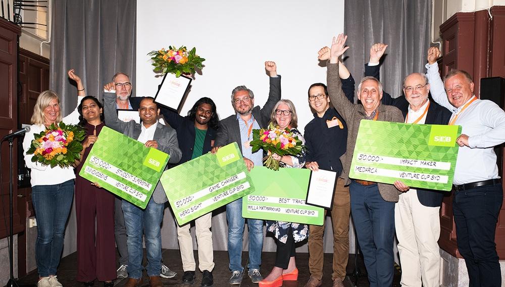 Vinnarna i Venture Cup STARTUP Regionfinal Syd 2019