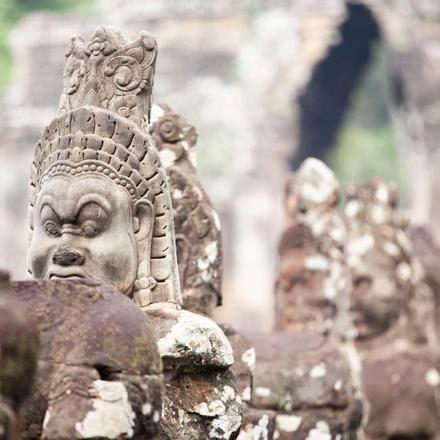 Stone work at Angkor