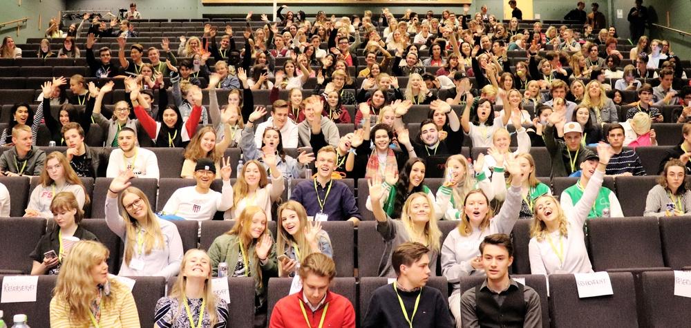 Elevkårsaktiva på Sveriges Elevkårers event Upptakt18.