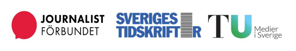 Logotyper Journalistförbundet, Sveriges Tidskrifter, TU