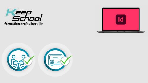 Représentation de la formation : InDesign préparation TOSA : 100% cours particuliers à domicile (40h)