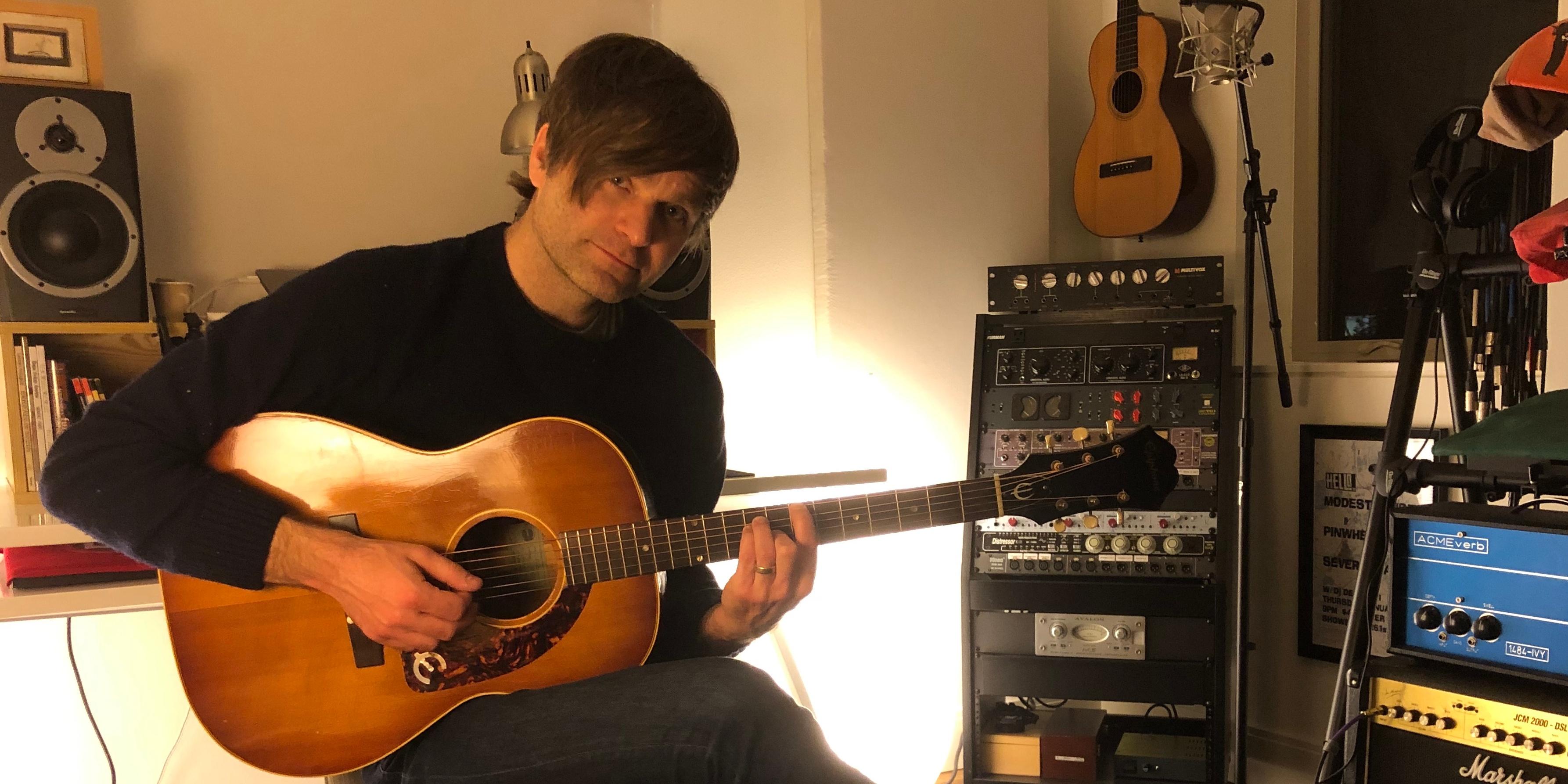 """I'd like to return the favor by coming to you."" Ben Gibbard to stream online concerts for fans"