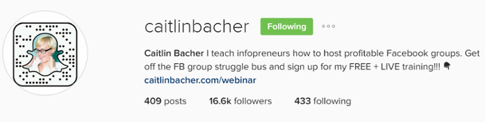 Caitlin Bacher is a social media mastermind and shows others how to replicate her success through her blog online courses.
