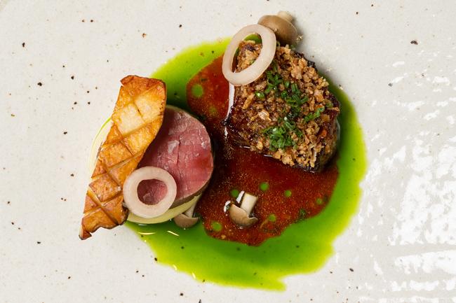 Welsh wagyu brisket, Longhorn fillet, mushroom and chive