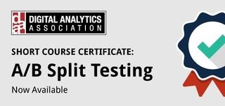 DAA Certificate in A/B Split Testing