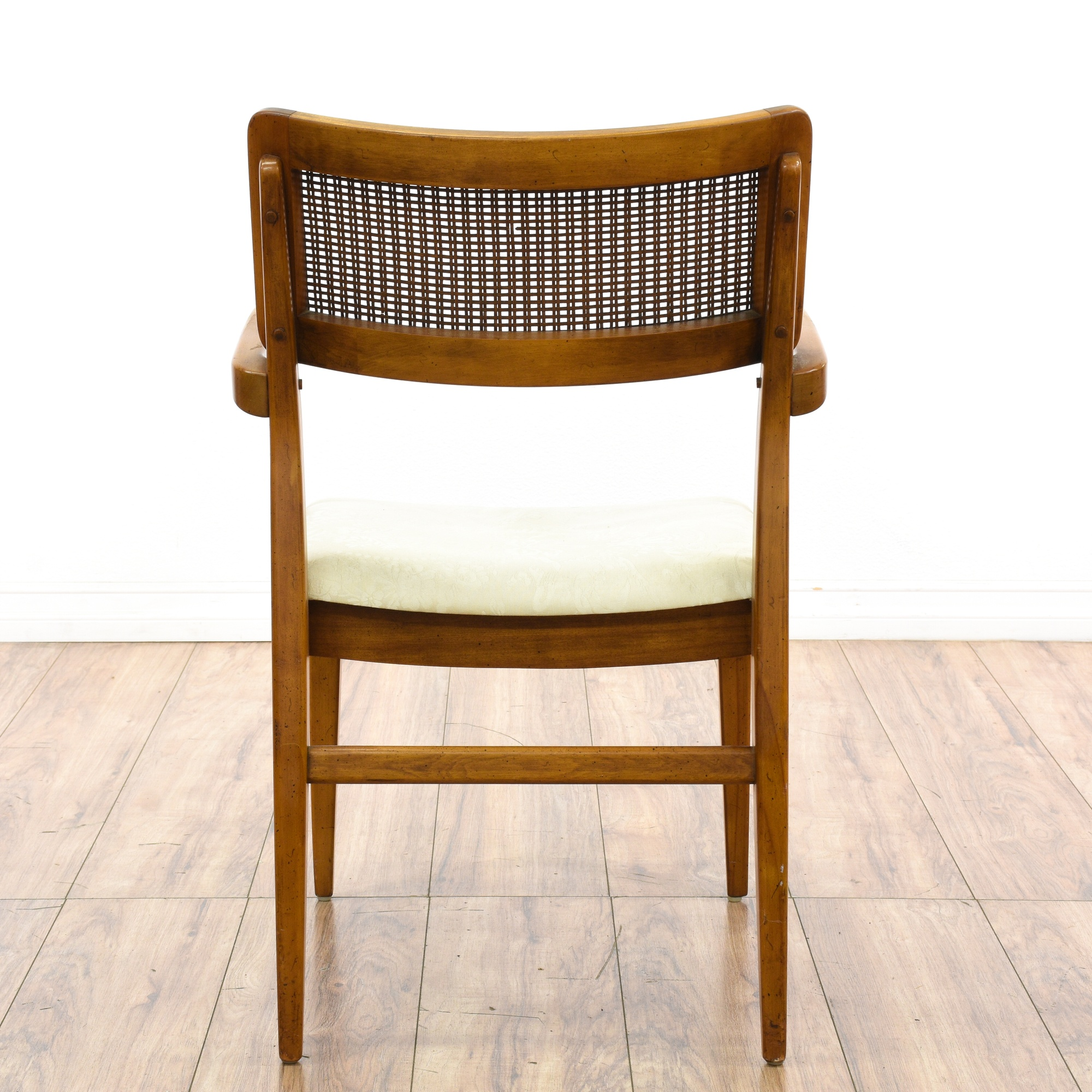 Set of 6 mid century modern cane dining chairs loveseat for Mid century modern furniture san francisco