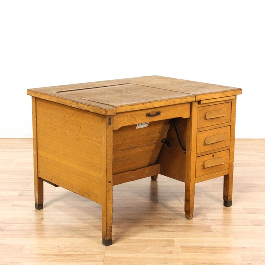 Rustic Primitive Antique School Desk