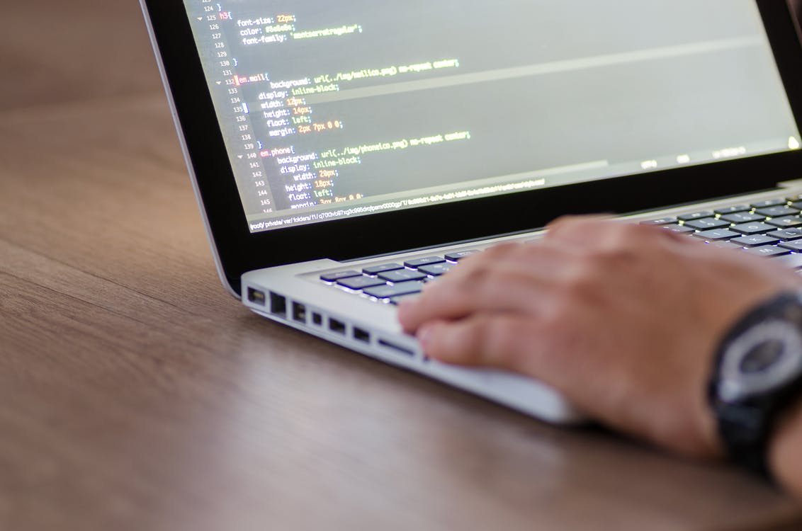 Freelance developer coding