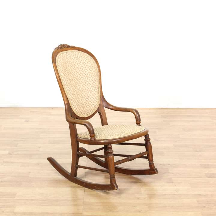 Small Antique Woven Wicker Kid S Rocking Chair Loveseat