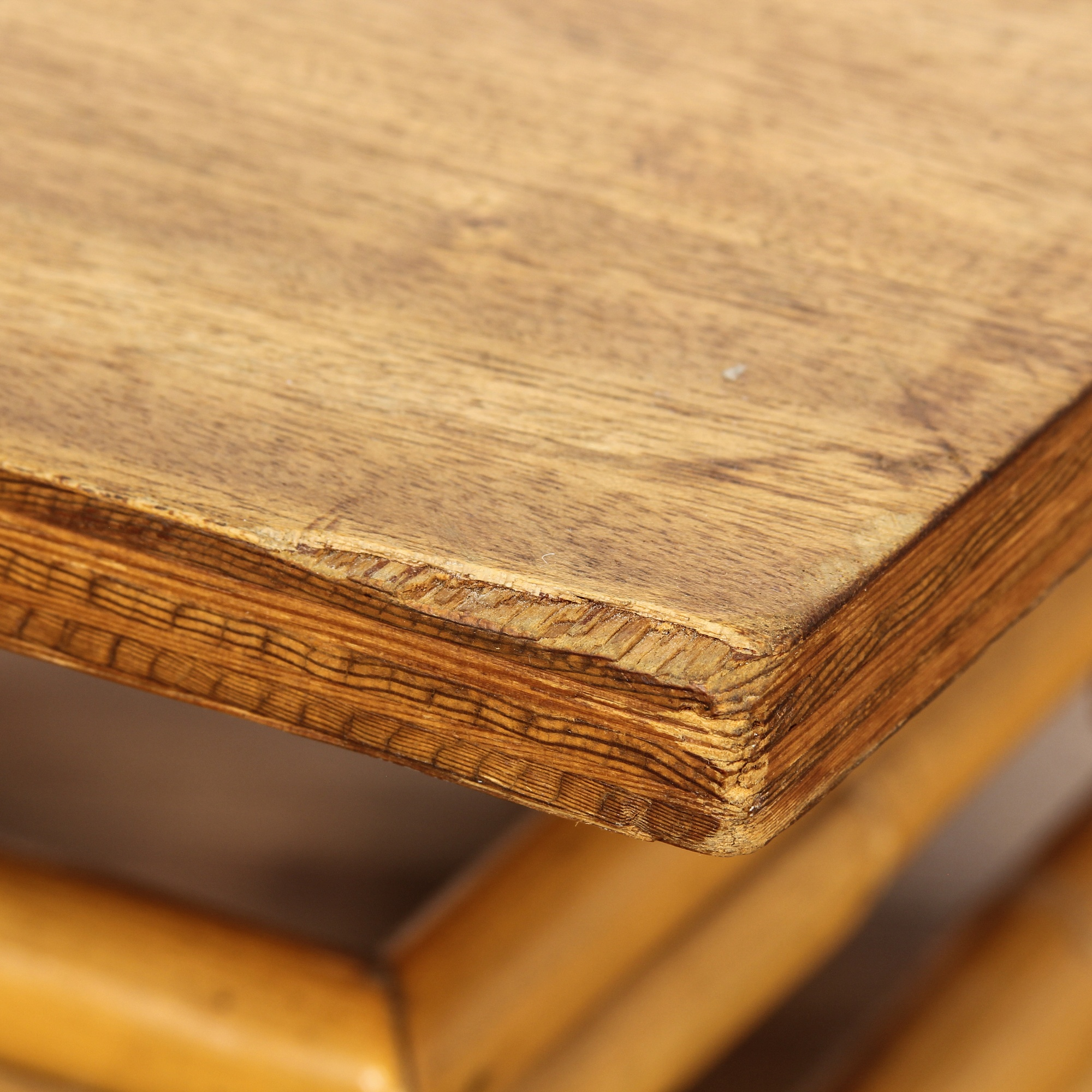Bohemian Bamboo Base Coffee Table Loveseat Vintage