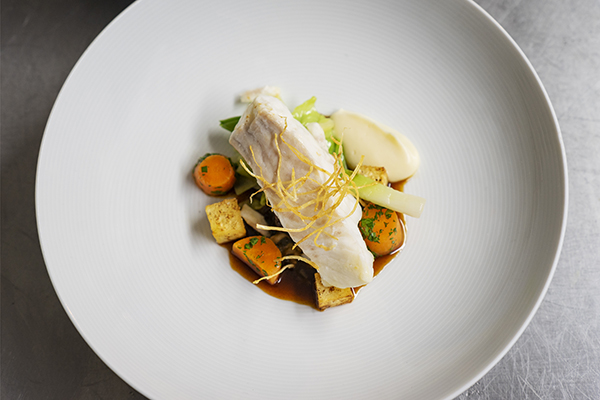 Turbot, oxtail, oyster