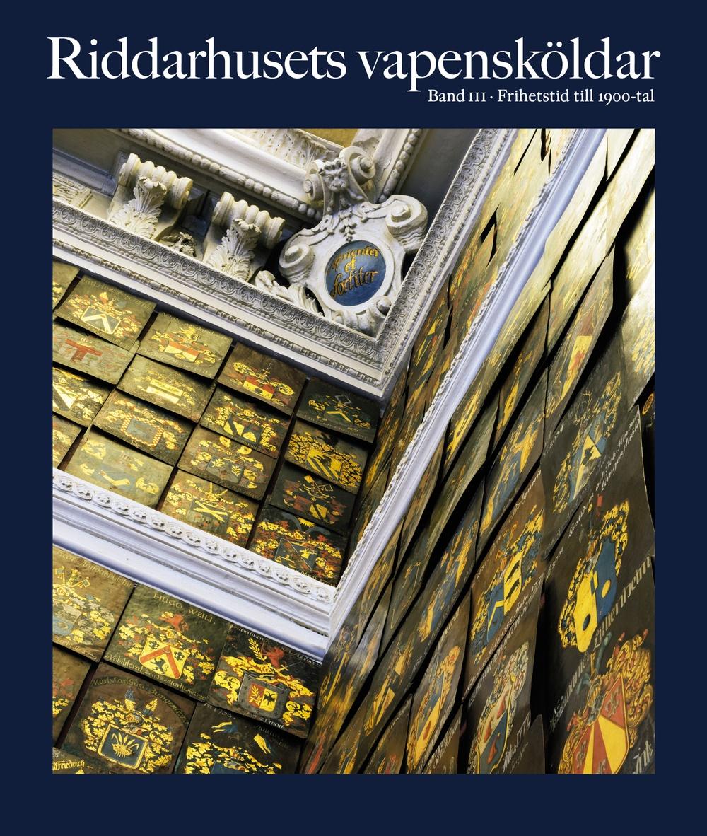 För första gången presenteras Riddarhusets vapensköldar i bokform!  Riddarhusets världsunika samling vapensköldar är uppmålade från 1600-talet och framåt. Varje sköld motsvarar en ätt som har introducerats på Riddarhuset. Samlingen berättar åtskilligt om Sveriges politiska och kulturella historia.