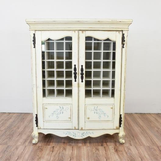 Next & Shabby Chic Wine Storage Cabinet | Loveseat Vintage Furniture San Diego