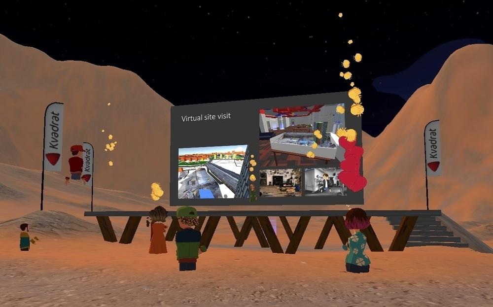 Anders Lundgren från Information Experience får applåder på Kvadrats scen på planeten Mars.