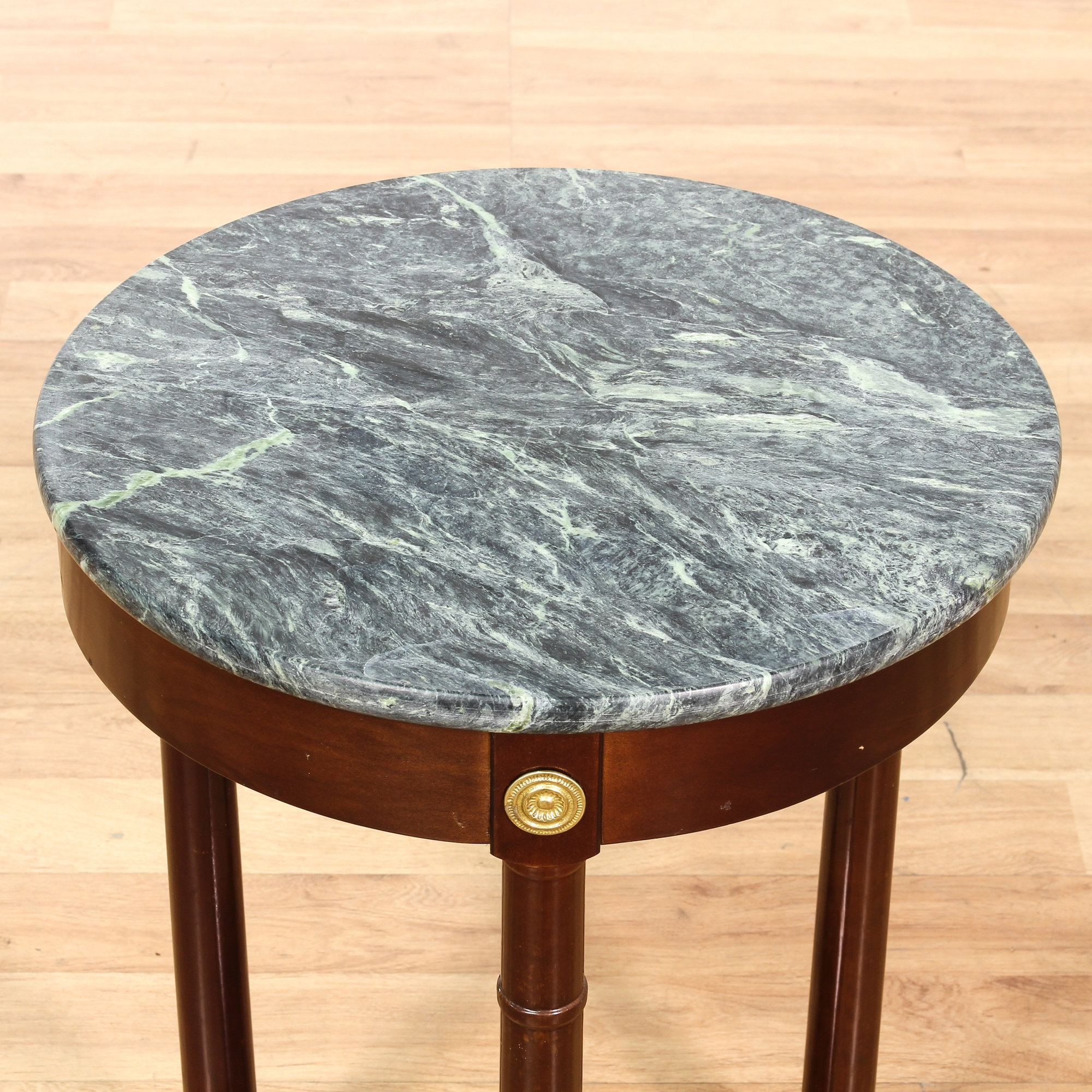 Round Green Marble : Round empire style green marble side table loveseat