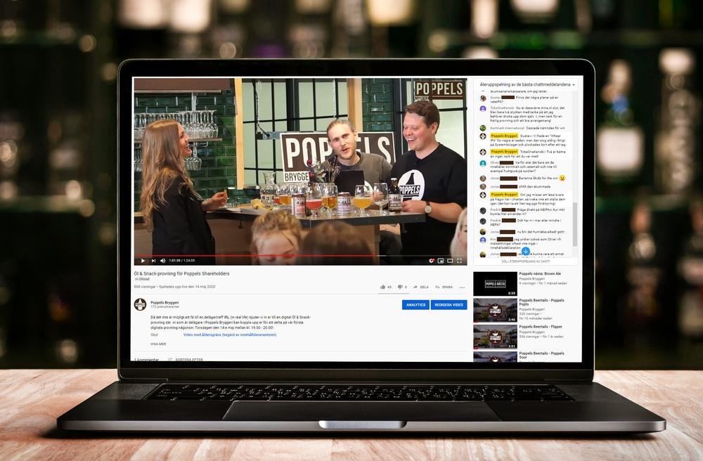 Den 2:e juli håller Poppels gratis Öl&Snacks-provning via youtube, och passar på att försöka slå inofficiellt världsrekord.