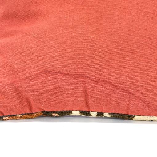 Bohemian Burnt Orange Geometric Tapestry Pillow Loveseat Vintage Furniture San Diego & Los Angeles