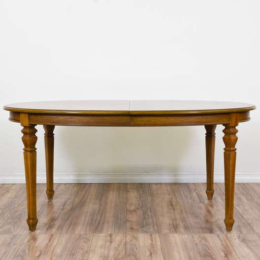 Oval Maple Dining Table w/ 2 Leaves