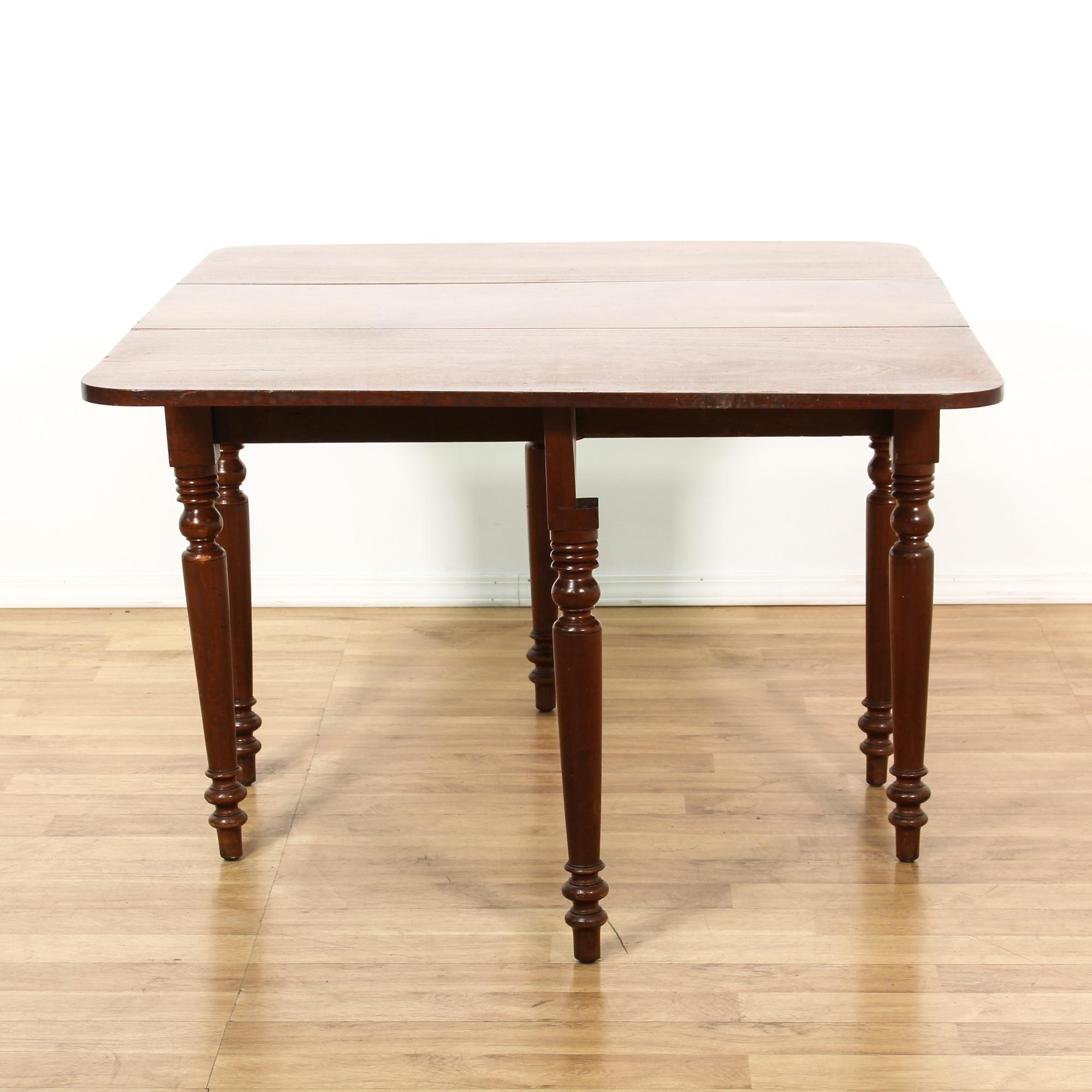 Dining Room Furniture San Diego: Mahogany Drop Leaf Gate Leg Dining Table