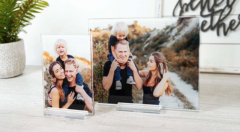 Opulent, HD Printed Photo on Ultra-Thick Glass with Acrylic Stand