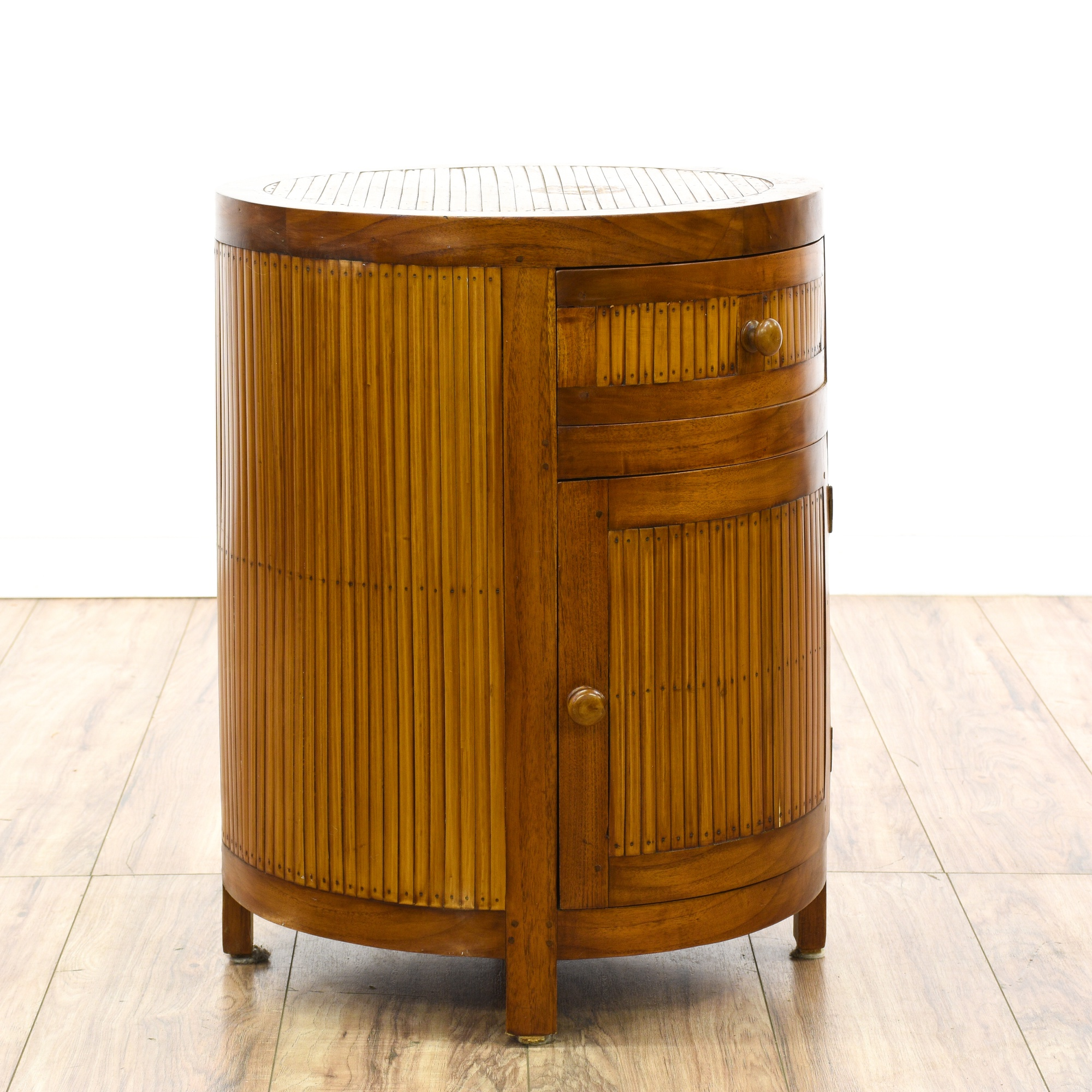 Pair Of Hawaiian Bamboo Nightstands Loveseat Vintage