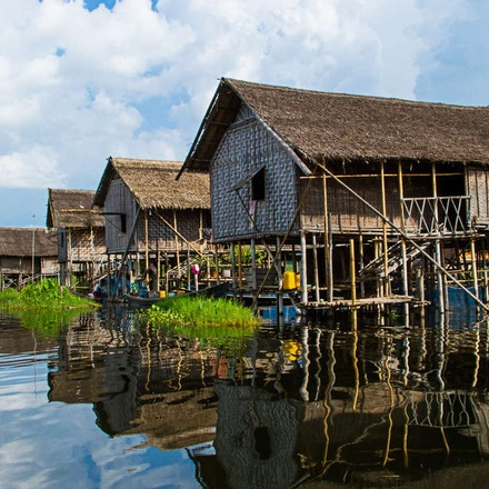 Stilited houses of Inle Lake