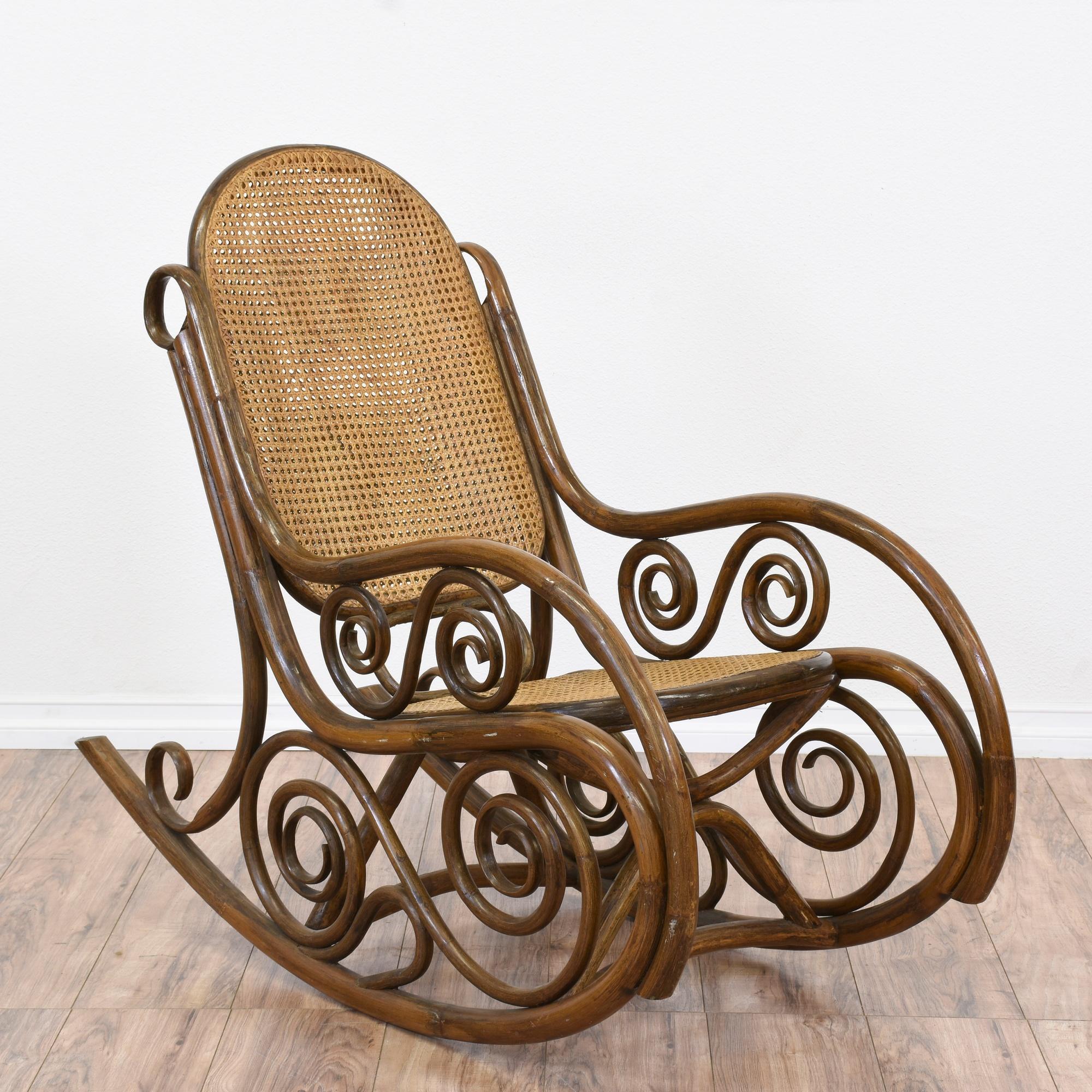 Art Nouveau Thonet Inspired Bentwood Rocker Loveseat