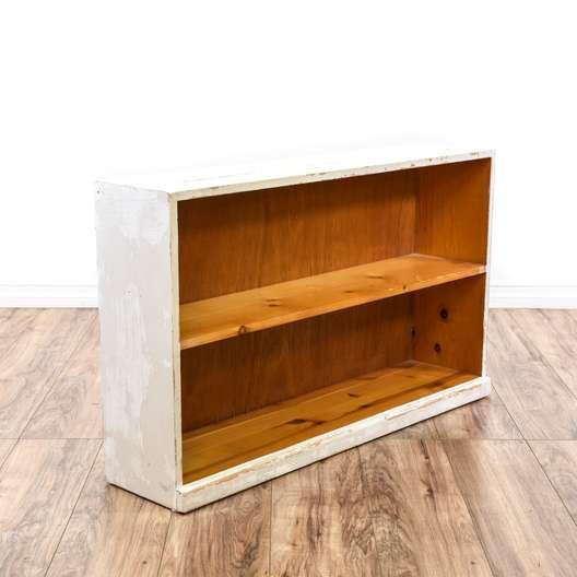 White Shabby Chic Pine Bookcase