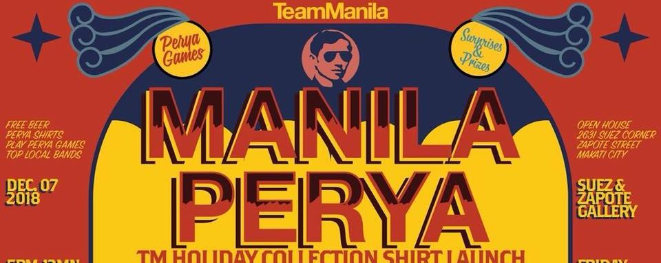 Manila Perya: TeamManila Holiday Collection Shirt Launch