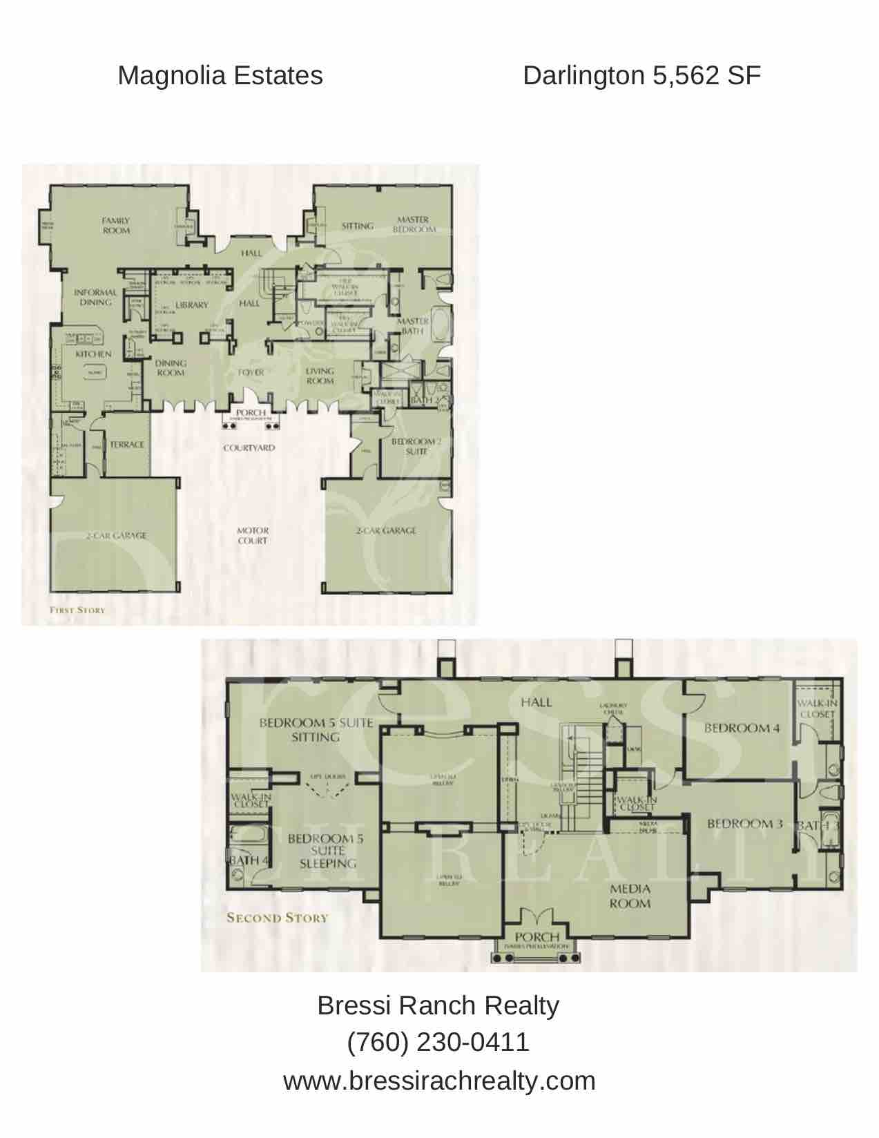 Magnolia Estates Darlington Floor Plan Bressi Ranch