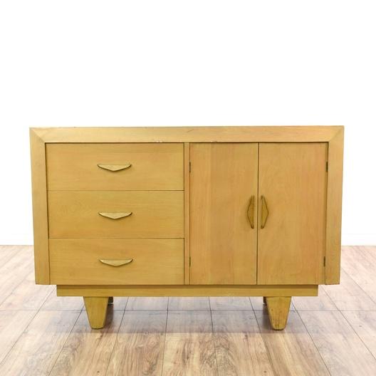 Mid Century Modern Blonde Wood Buffet Dresser
