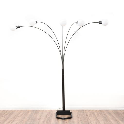 Mid Century Modern Black Arc Floor Lamp