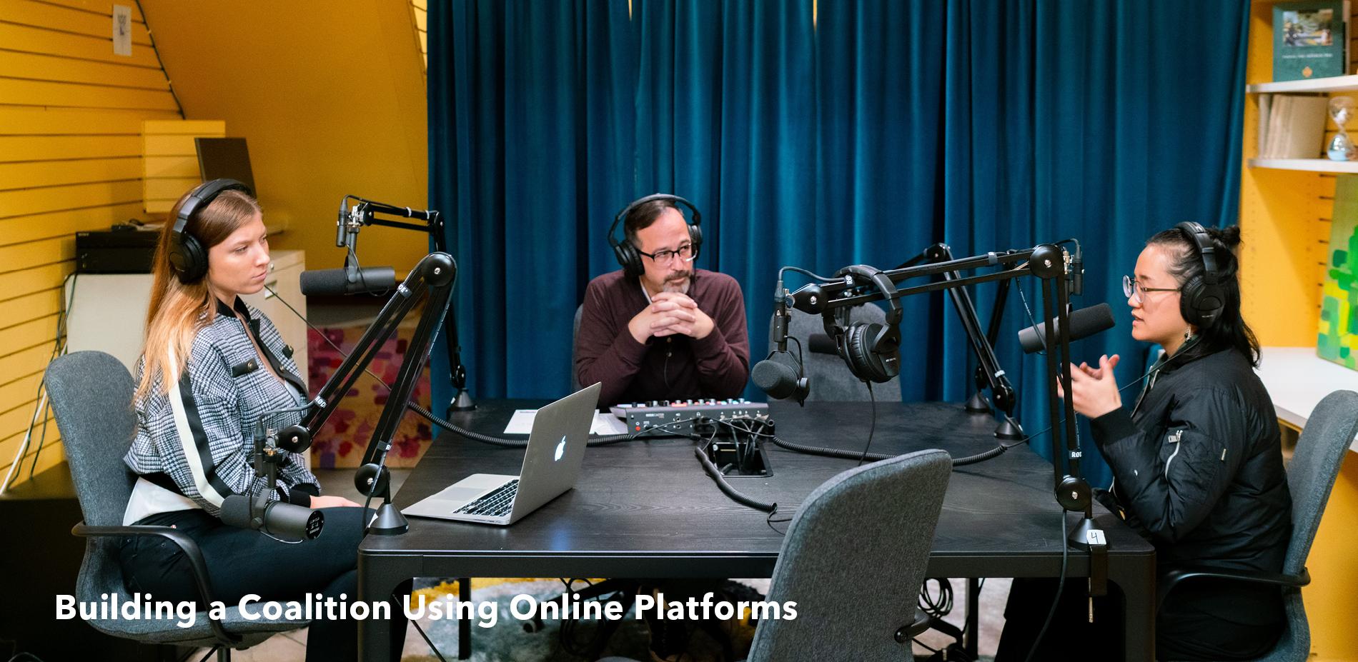 Building a Coalition Using Online Platforms