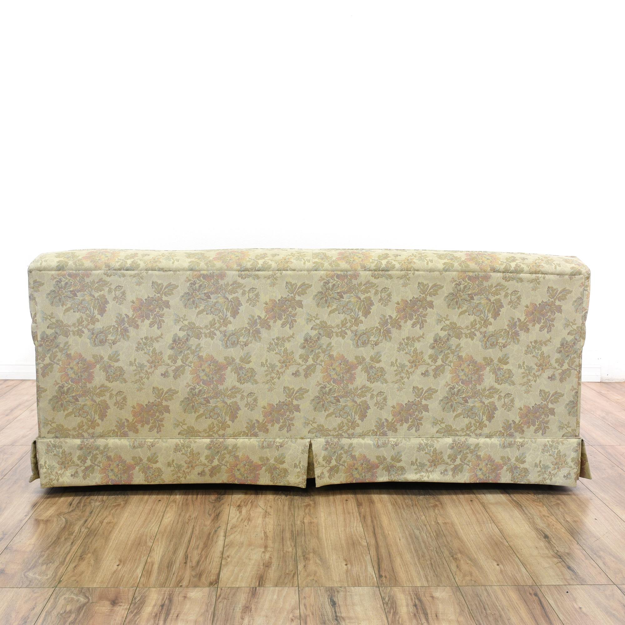 La Z Boy Mid Century Modern Floral Sofa Loveseat