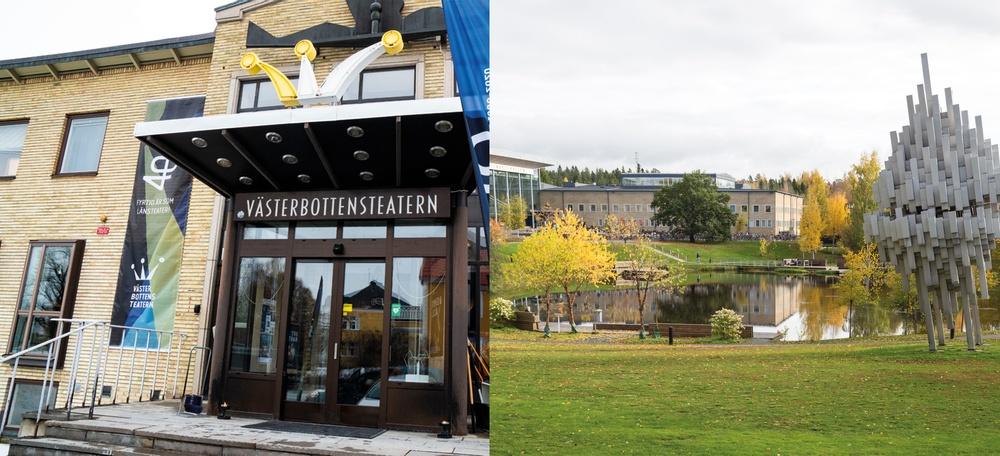 Umeå universitet och Västerbottensteatern i samverkan. Foto: Sofia Lindblom och Ulrika Bergfors.