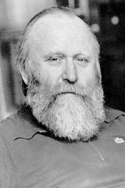 Photo of author Frank Herbert, taken later in his life.
