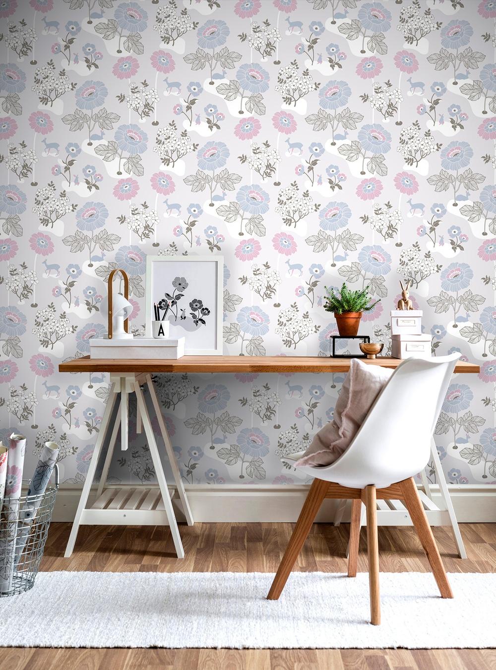398-02 Blomsteräng grå