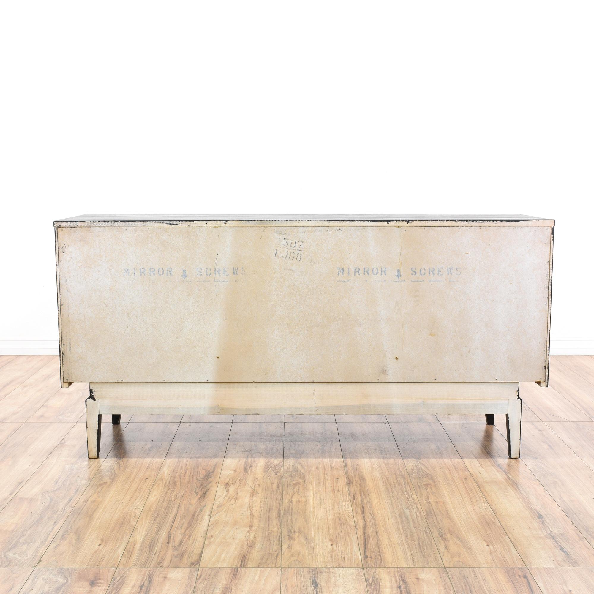Black mid century modern 9 drawer dresser loveseat for Mid century modern la