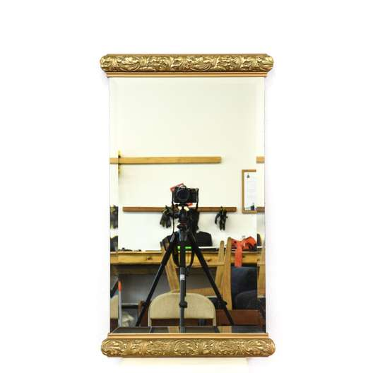 Carved Gold Beveled Edge Mirror